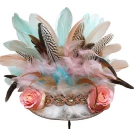 Opgemaakte hoed IBIZA Pastel