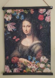 Mona Lisa op perkament 60 x 82 cm