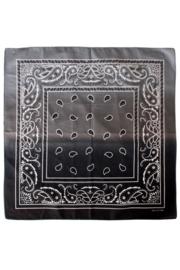 Zakdoek met kleurverloop Zwart/Wit