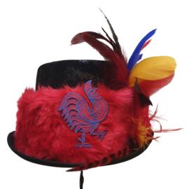Opgemaakte hoed Rood/Geel/Blauw & Jocushaan