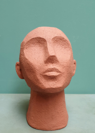 Hoofd terracotta 22 cm