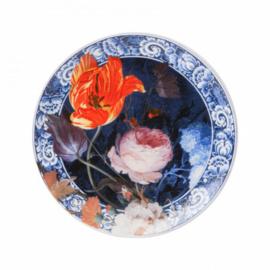 Wandbord Bloemen van de Gouden eeuw 20 cm