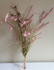 Kunstbloemen Veldboeket Roze