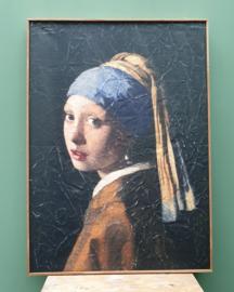 Meisje met de parel op perkament 51 x 71 cm