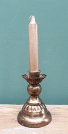 Kandelaar Goud metaal 10 cm