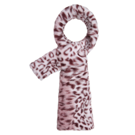 Doorsteek sjaal Panter roze