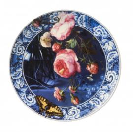 Wandbord Bloemen van de Gouden eeuw 26 cm