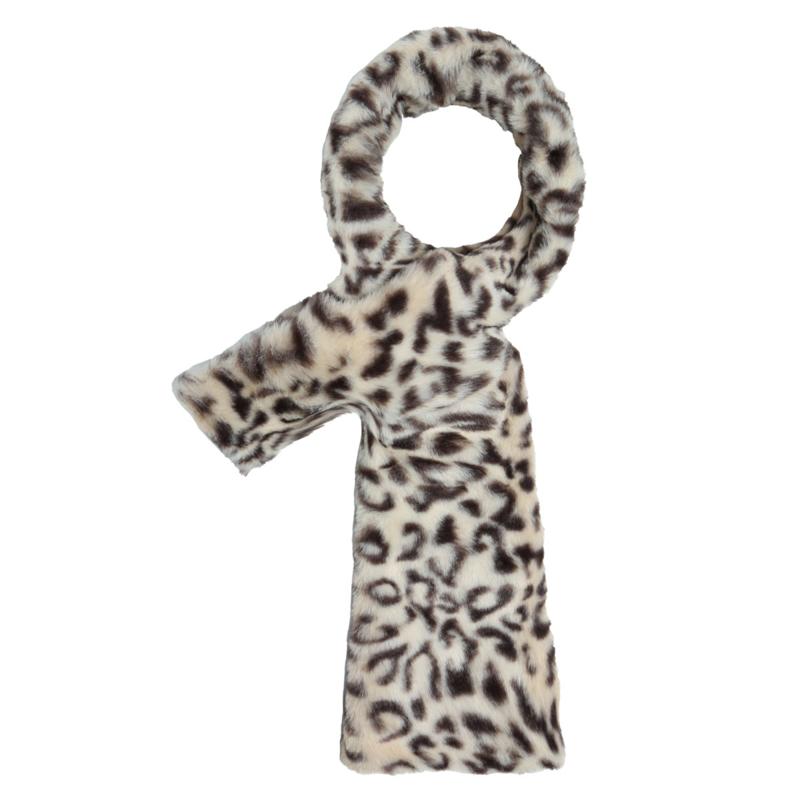 Doorsteek sjaal Panter crème