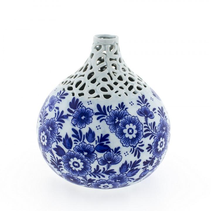 Bolvaas Delfts Blauw bloem 16 cm