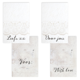 Set van 4 giftlabels