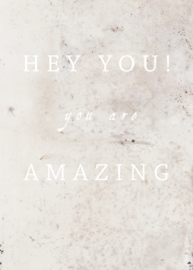 Wenskaart You are amazing - A5