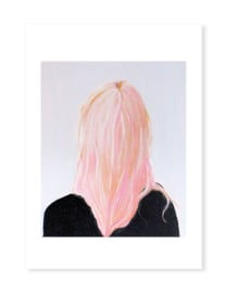 Poster 'Pink hair don't care'  A4 - Piet en Kees