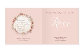 Geboortekaartje Roos