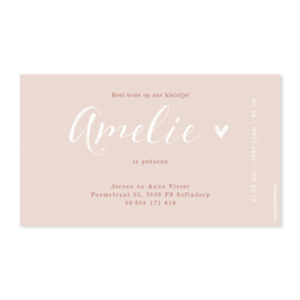Geboortekaartje Amelie