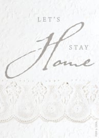Wenskaart Let's stay home - A5