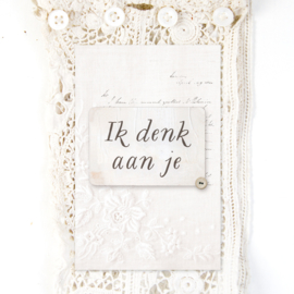 Minikaartje 'Ik denk aan je'
