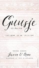 Geboortekaartje Guusje