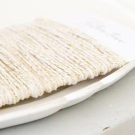 Katoen touw creme-goud 25mtr