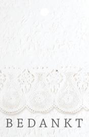 LACED PAPER Bedankkaartje - blanco