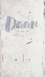 Geboortekaartje Daan