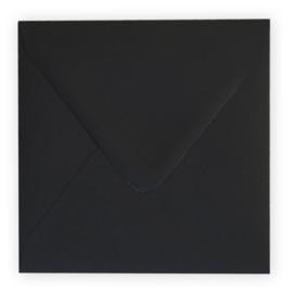 Envelop zwart 14 x 14 cm