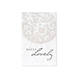 Minikaartje 'Hello Lovely'