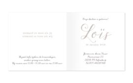 Geboortekaartje Loïs