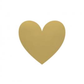 Stickers hart goud groot