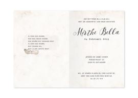 Geboortekaartje Mirthe