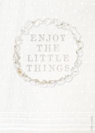 Wenskaart Enjoy the little things - A5