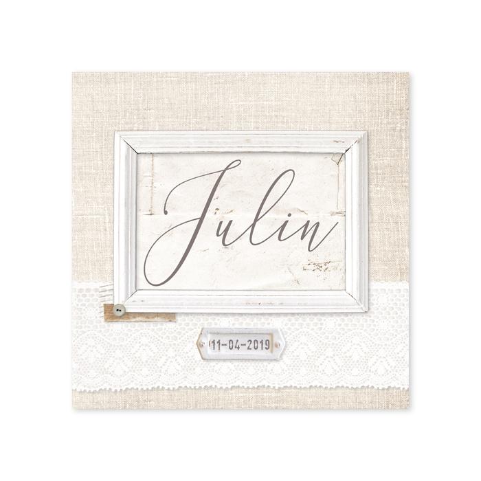 Geboortekaartje Julin