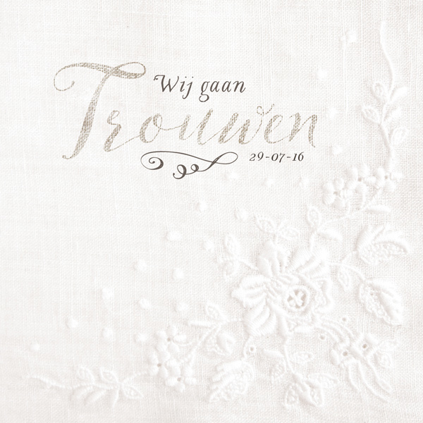 PST06 Trouwkaart - LINNEN LOVE