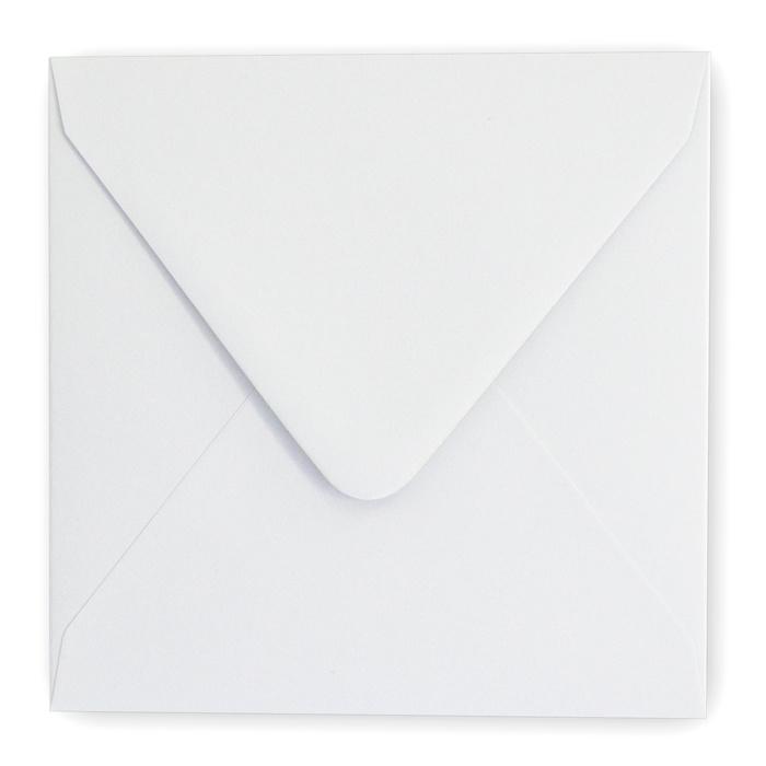 Envelop lichtgrijs 14 x 14 cm