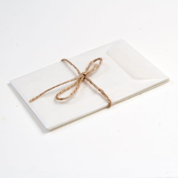Pergamijn envelopjes mini