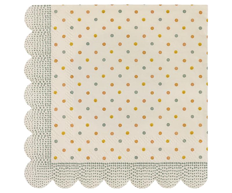 Napkin multi dots - Maileg