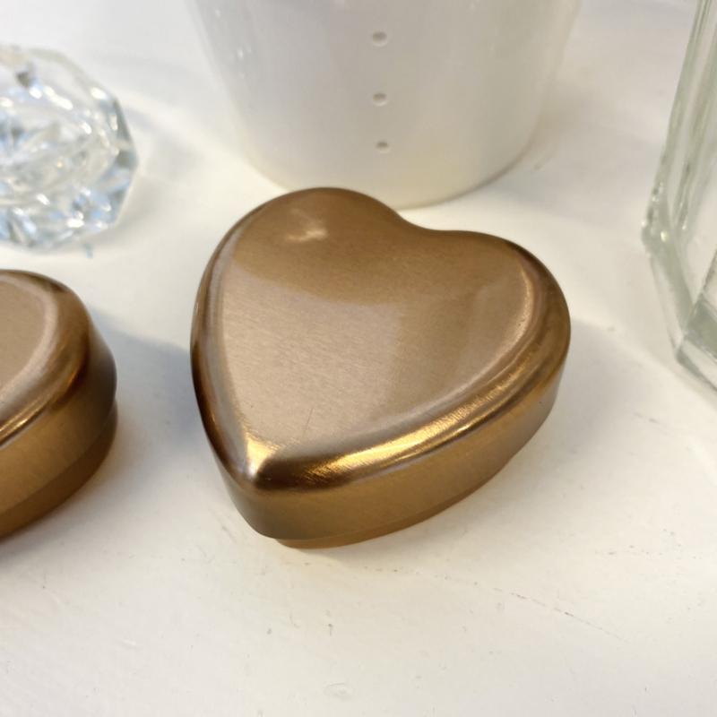Gouden hartjesdoosje - Maileg
