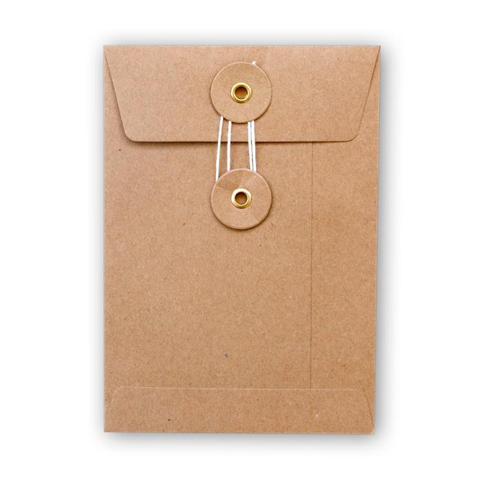 Envelop kraft met Japanse sluiting - klein