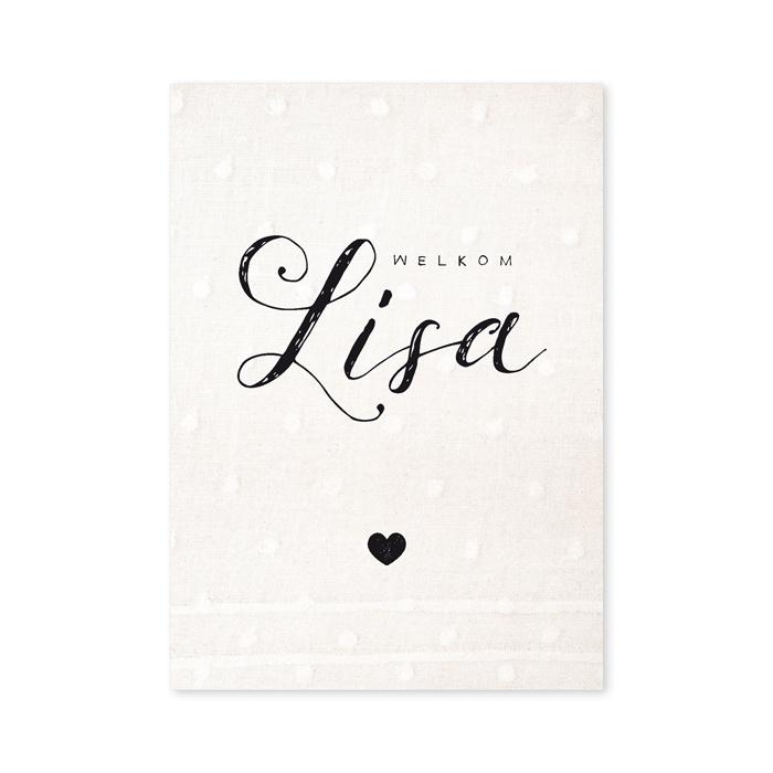 Geboortekaartje Lisa