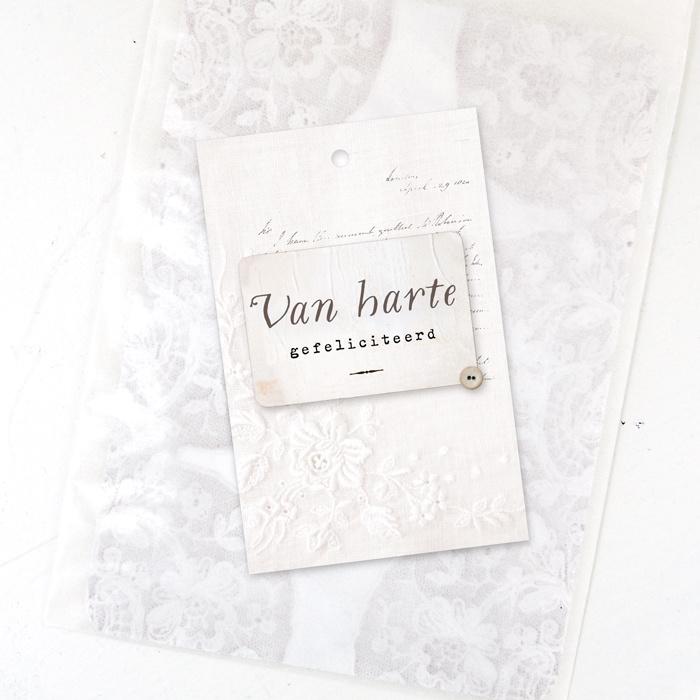 Minikaartje 'Van harte gefeliciteerd'