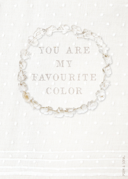 Wenskaart You are my favorite color - A5