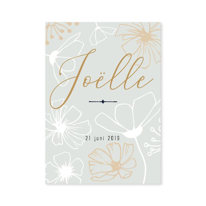 Geboortekaartje Joelle