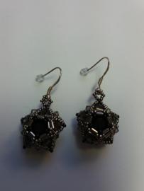 Double star zilver/zwart