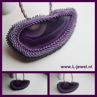 Purple thing (hanger excl. ketting)