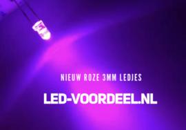 LEDjes 3mm Roze (10stuks)