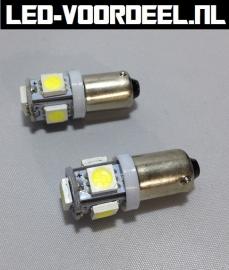 Ba9s - 5 SMDs - Helder wit