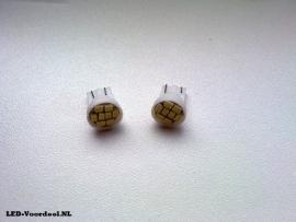 T10 - 8 SMDs  W5W - Helder wit