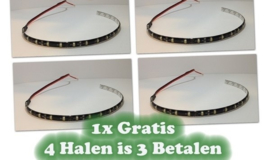 LED strip 30cm Helder wit - 3 strips + 1 strip Gratis