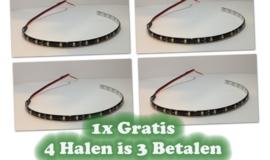 LED strip 30cm Helder wit - 3 strips + 1 strip Gratis