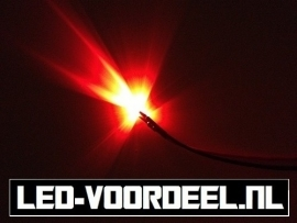 LEDjes 5mm Rood  12 Volt