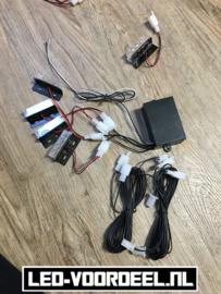 Led Stroboscoop voor de auto 4x3 LEDS Oranje
